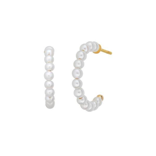 Bybiehl Pearls øreringe mellem størrelse i forgyldt, Ø 16 mm