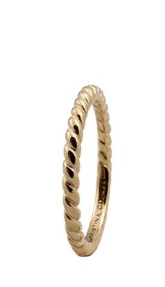 CHRISTINA Forgyldt Sølvring Rope - 0.1B Størrelse 57