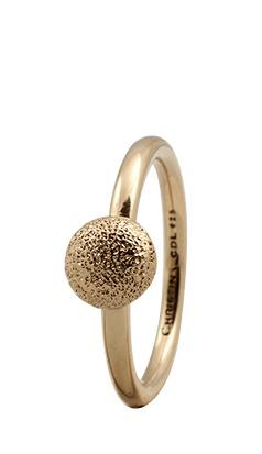CHRISTINA Forgyldt Sølvring Shine - 1.7B Størrelse 55
