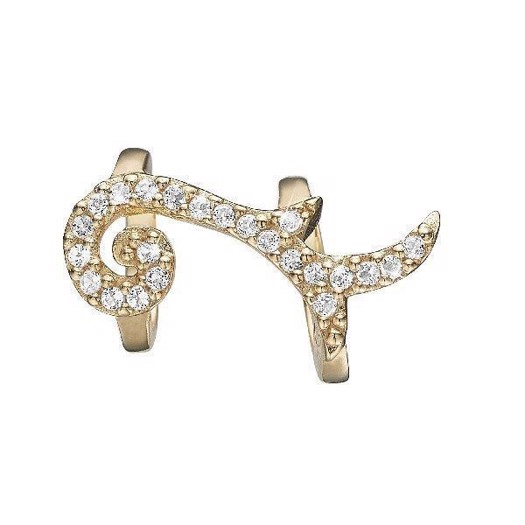 Christina Collect 14 kt. guld charm - Blowing Leaf