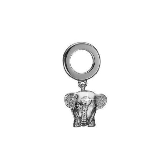 Christina Collect 14 kt. hvidguld charm - Diamond Elephant