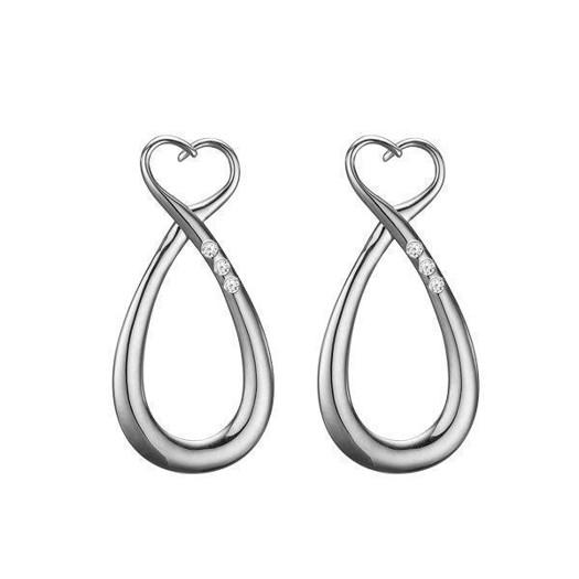 Christina Collect 14 kt. hvidguld øreringe - Diamond Earrings