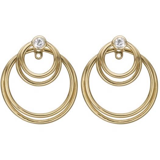 Christina Collect - Circles of joy forgyldte øreringe