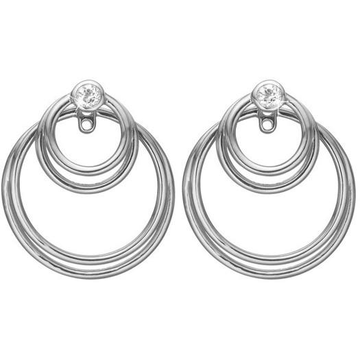 Christina Collect - Circles of joy sølv øreringe