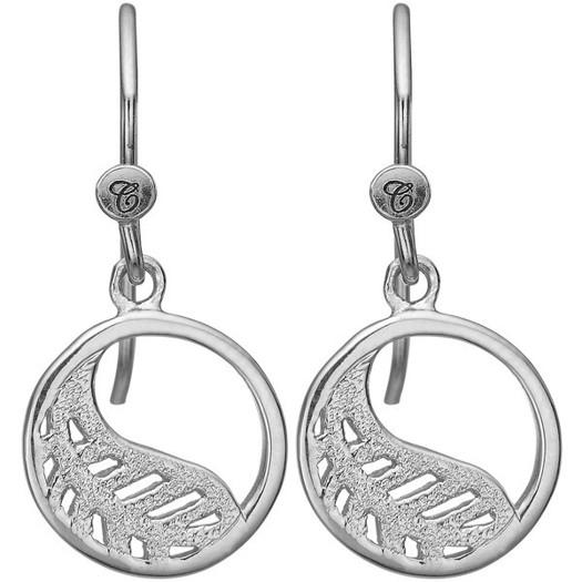 Christina Collect - Leaf sølv øreringe