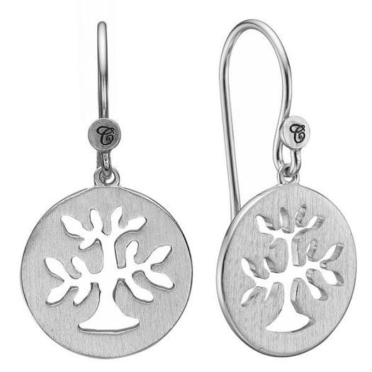 Christina Collect - PLANT A TREE sølv øreringe