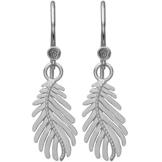 Christina Collect - Pine Leaf sølv øreringe