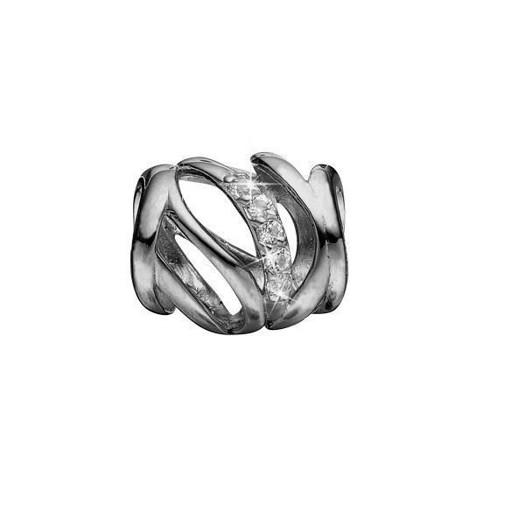 Christina Collect - Sort rhodineret sølv charm REAL HARMONY