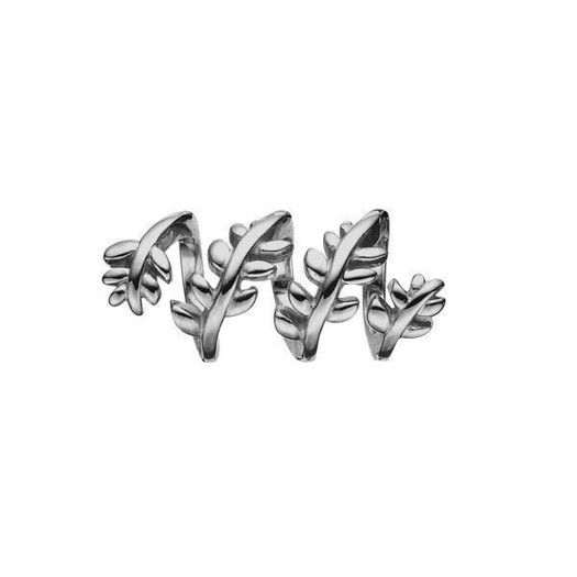 Christina Collect - Sort rhodineret sølv charm TWISTING LEAFS