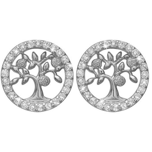 Christina Collect - Topaz tree of life sølv ørestikker