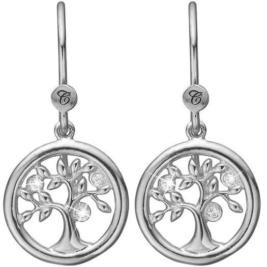Christina Collect - Tree of life sølv øreringe*