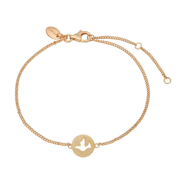 Christina Jewelry Dove of Peace armbånd i forgyldt