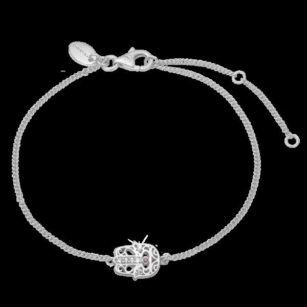 Christina Jewelry Hamsa hånd armbånd i sølv