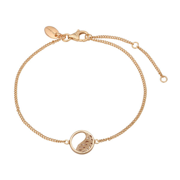 Christina Jewelry Leaf armbånd i forgyldt