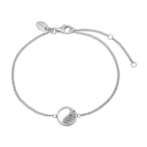 Christina Jewelry Leaf armbånd i sølv