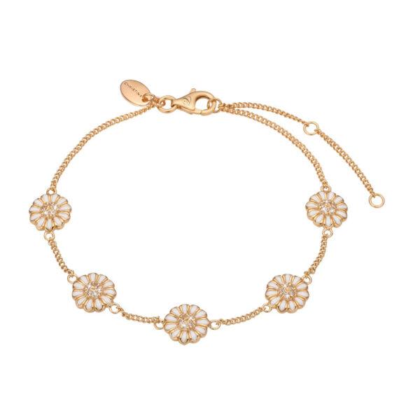 Christina Jewelry Marguerite Field armbånd i forgyldt med 26 topaser