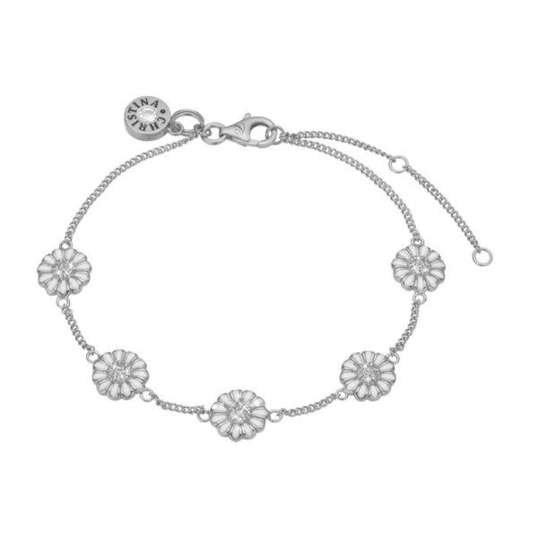 Christina Jewelry Margurite Field armbånd i sølv med topaser