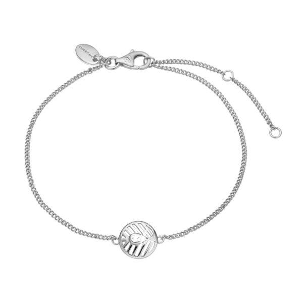 Christina Jewelry Open Leaf armbånd i sølv med topas