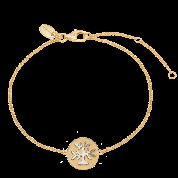 Christina Jewelry Plant a tree armbånd i forgyldt