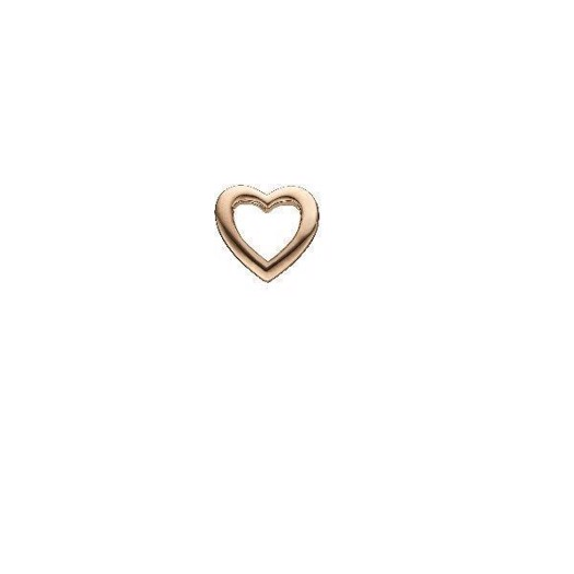 Christina Jewelry - Rosa Forgyldt charm Heart