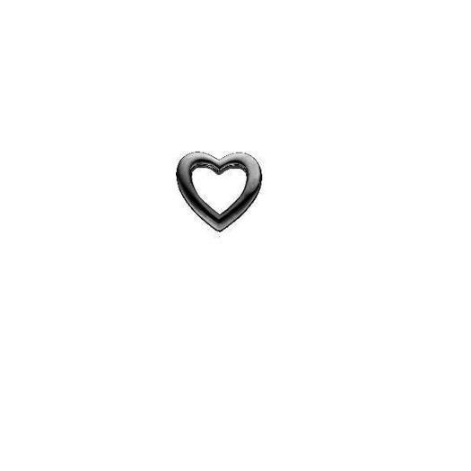 Christina Jewelry - Sort Sølv charm Heart