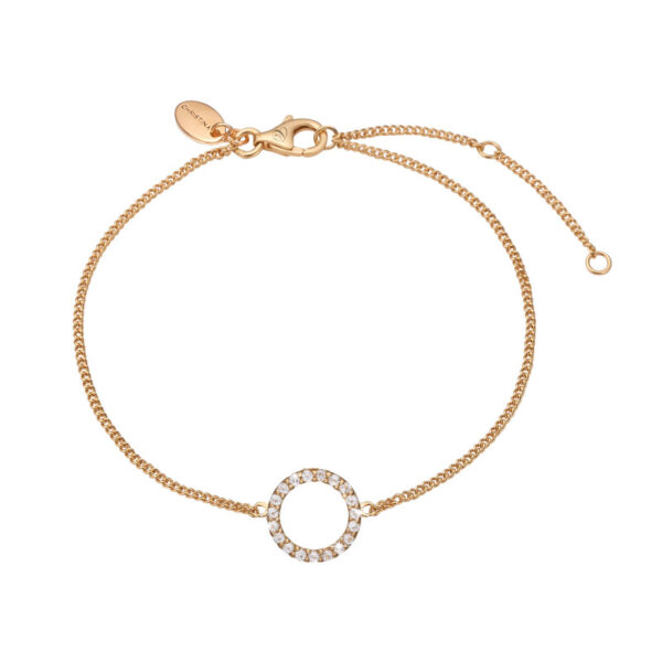 Christina Jewelry Sparkling circle armbånd i forgyldt med 20 topaser