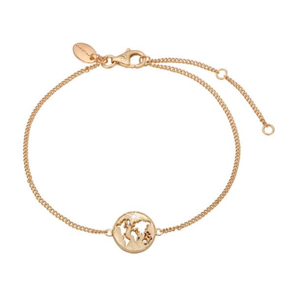 Christina Jewelry The World armbånd i forgyldt med topas