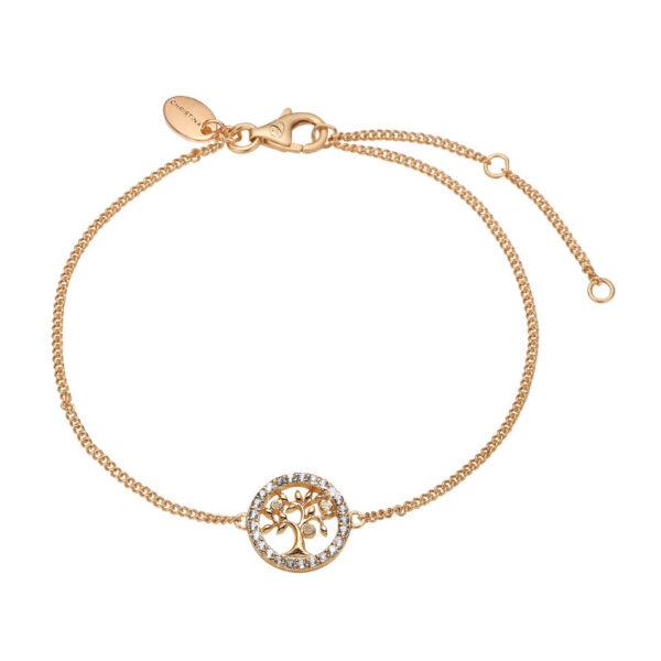 Christina Jewelry Topaz Tree of Life armbånd i forgyldt med 25 topaser