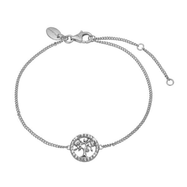 Christina Jewelry Topaz Tree of Life armbånd i sølv med 25 topaser