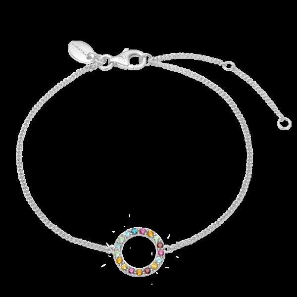 Christina Jewelry World Goals armbånd i sølv, multi sten
