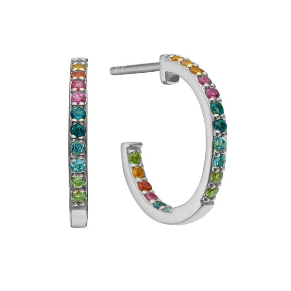 Christina Jewelry World Goals øreringe i sølv med multi sten