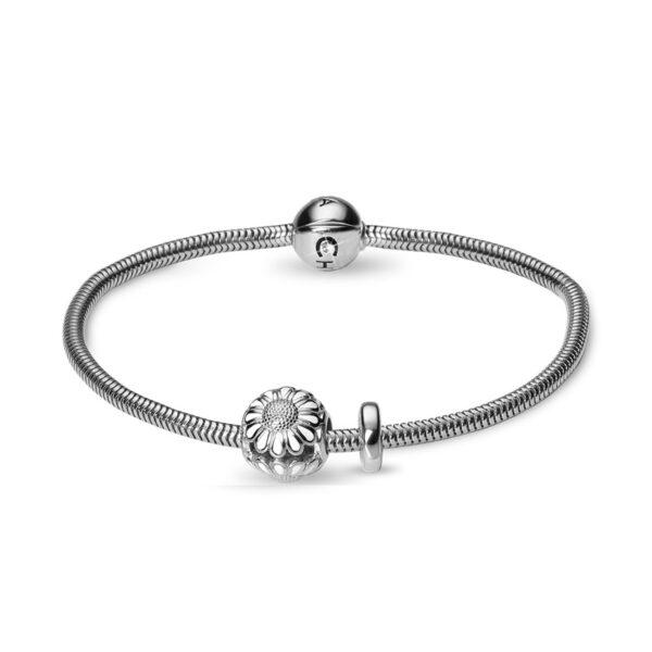 Christina Jewelry armbånd i sølv med marguerit charm