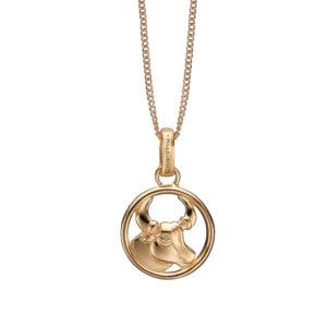 Christina Jewelry forgyldt stjernetegn tyren vedhæng