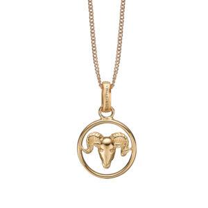 Christina Jewelry forgyldt stjernetegn vædderen vedhæng