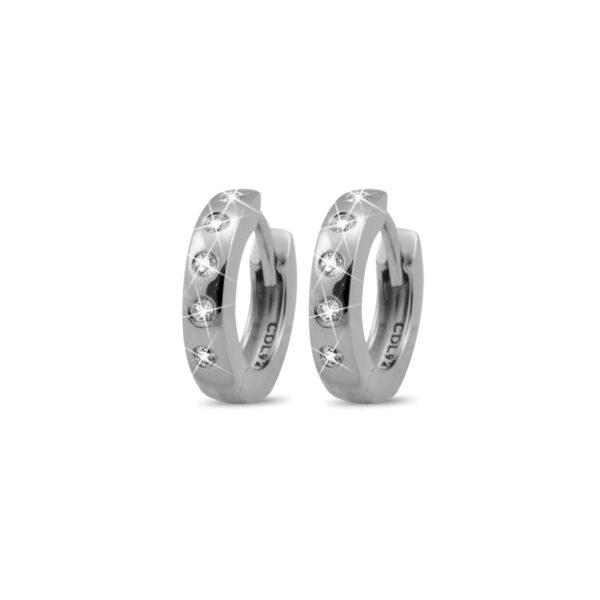 Christina Jewlery øreringe Ø 13 mm i sølv med topas
