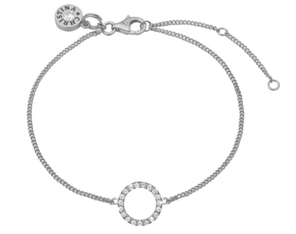 Christina Sparkling circle armbånd - 601-S06 21 centimeter