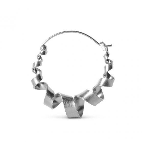 Curly Hoops Øreringe Large 1 Pc | Sølv Fra Jane Kønig