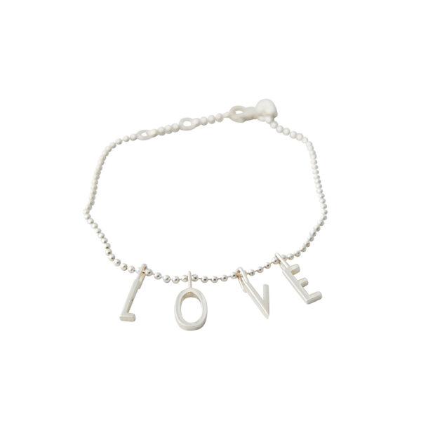 Design Letters L-o-v-e armbånd - sølv