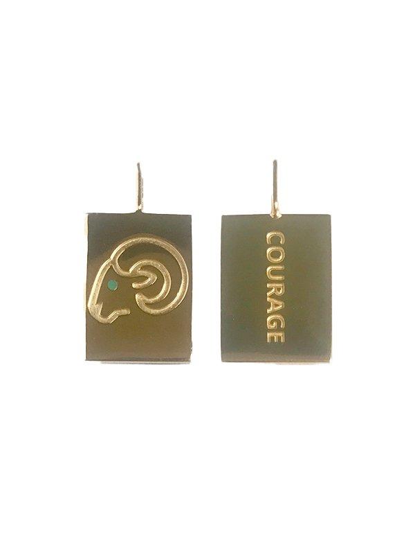 Design Letters Zodiac stjernetegns vedhæng, CAPRICORN - guld