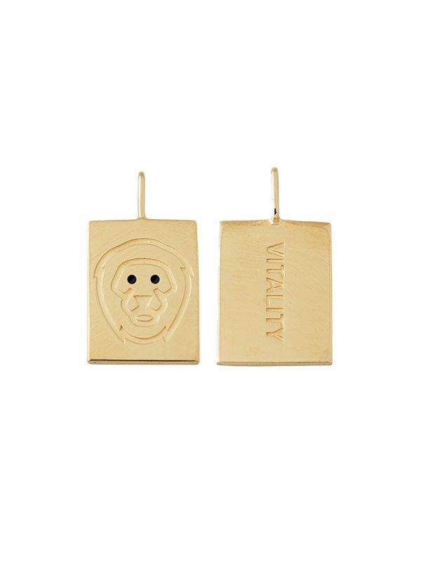 Design Letters Zodiac stjernetegns vedhæng, LEO - guld
