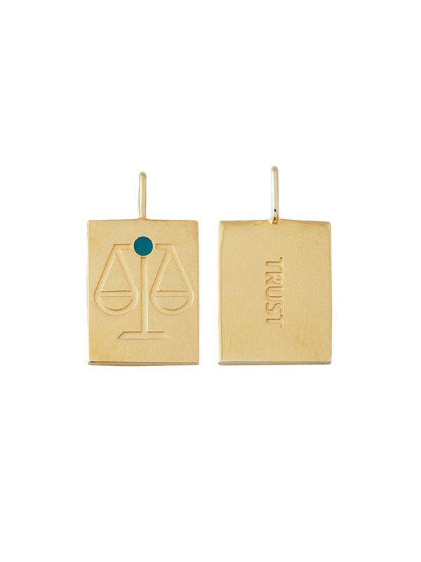 Design Letters Zodiac stjernetegns vedhæng, LIBRA - guld