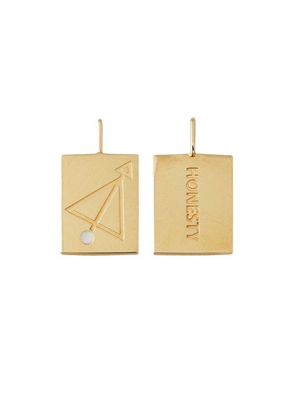 Design Letters Zodiac stjernetegns vedhæng, SAGITARIUS - guld