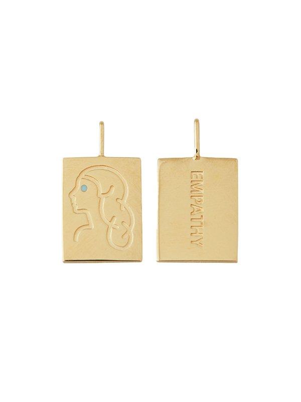 Design Letters Zodiac stjernetegns vedhæng, VIRGO - guld