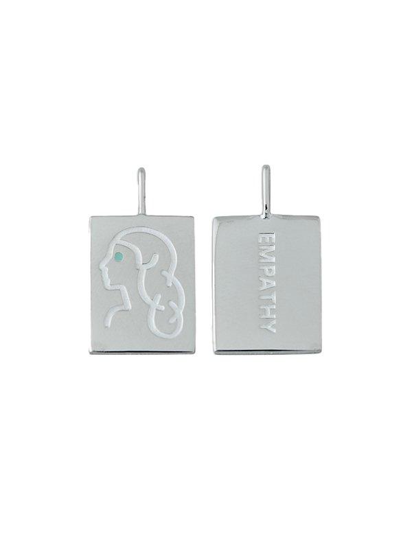 Design Letters Zodiac stjernetegns vedhæng, VIRGO - sølv