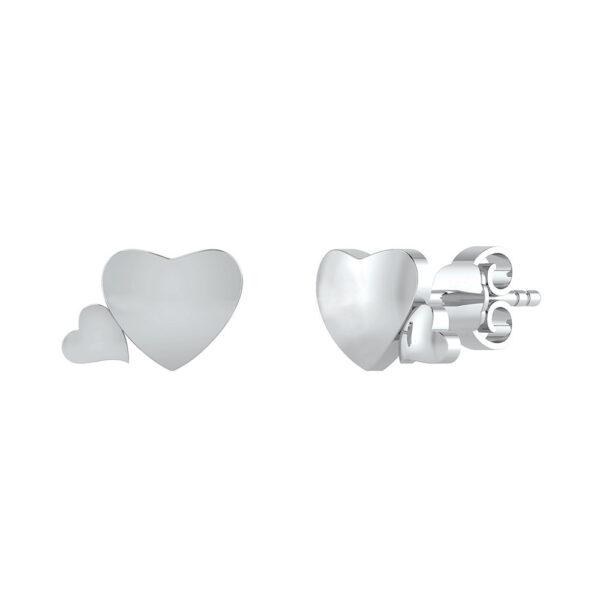 Dobbelthjerte Sølv Ørestikker DMB0297S