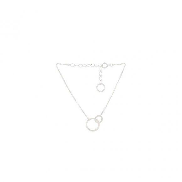 Double Armbånd Adjustable 15-18 Cm   Sølv Fra Pernille Corydon