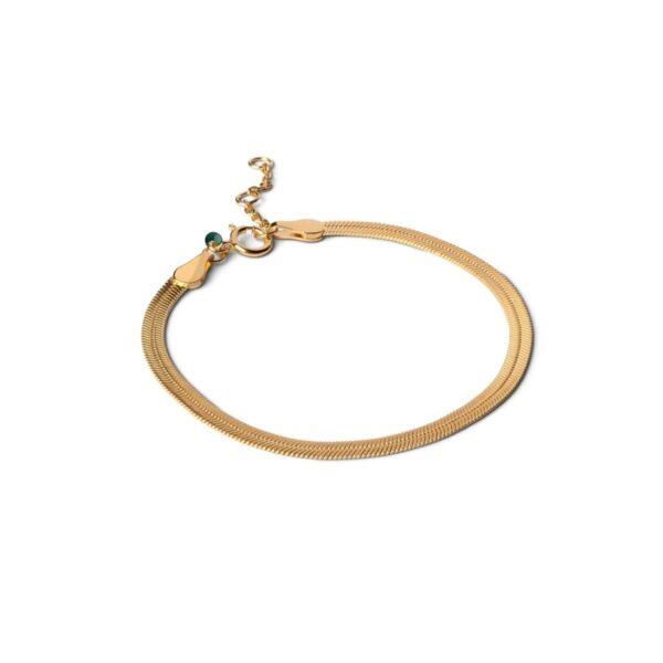 Enamel Caroline armbånd - Guld
