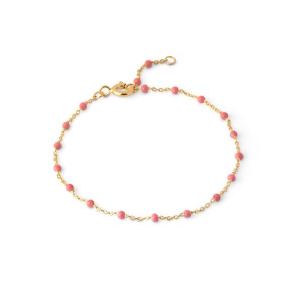 Enamel Lola Coral armbånd - Guld