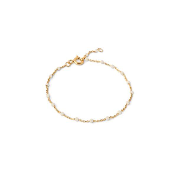 Enamel Lola Daisy armbånd - Guld