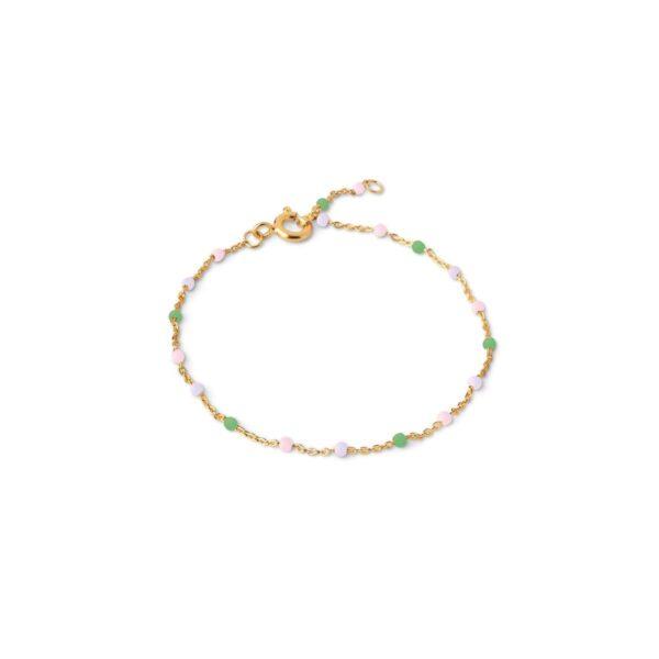 Enamel Lola Wilderness armbånd - Guld